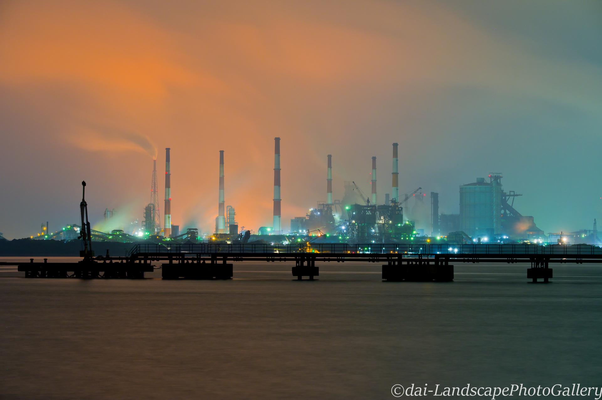 水島製鉄所工場夜景