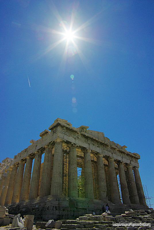 太陽と神殿 パルテノン神殿