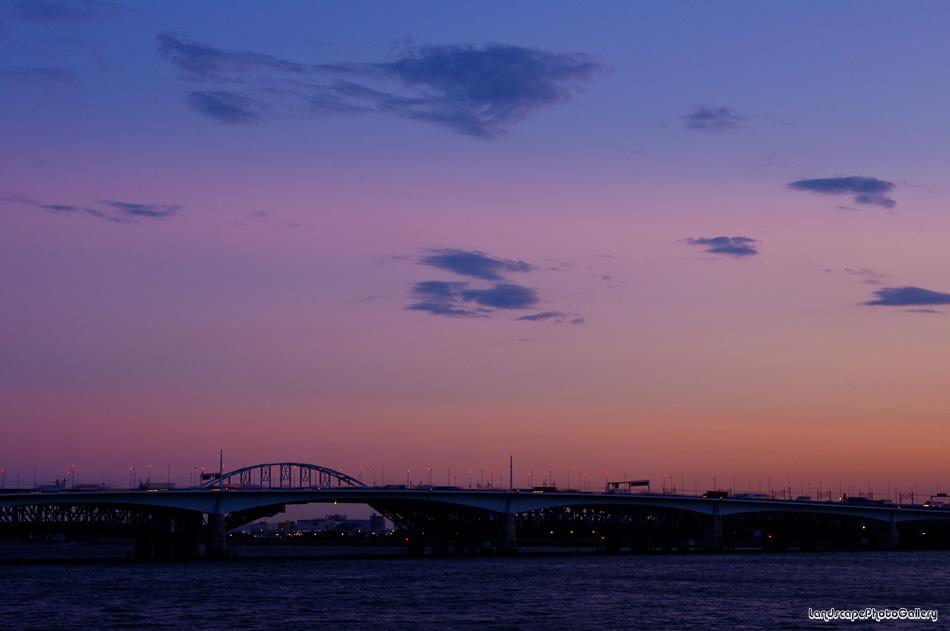 荒川河口夕景