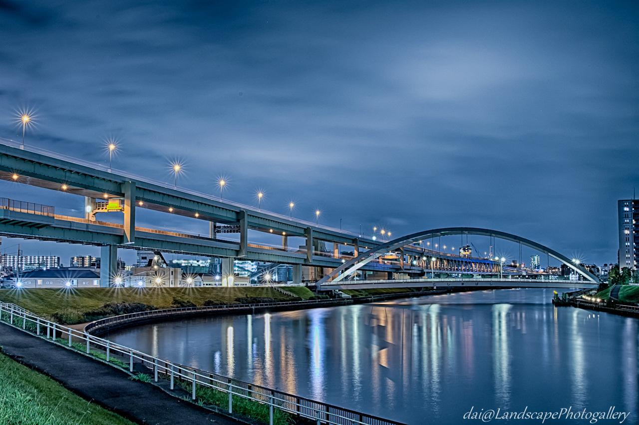 隅田川と首都高中央環状線【HDRi】