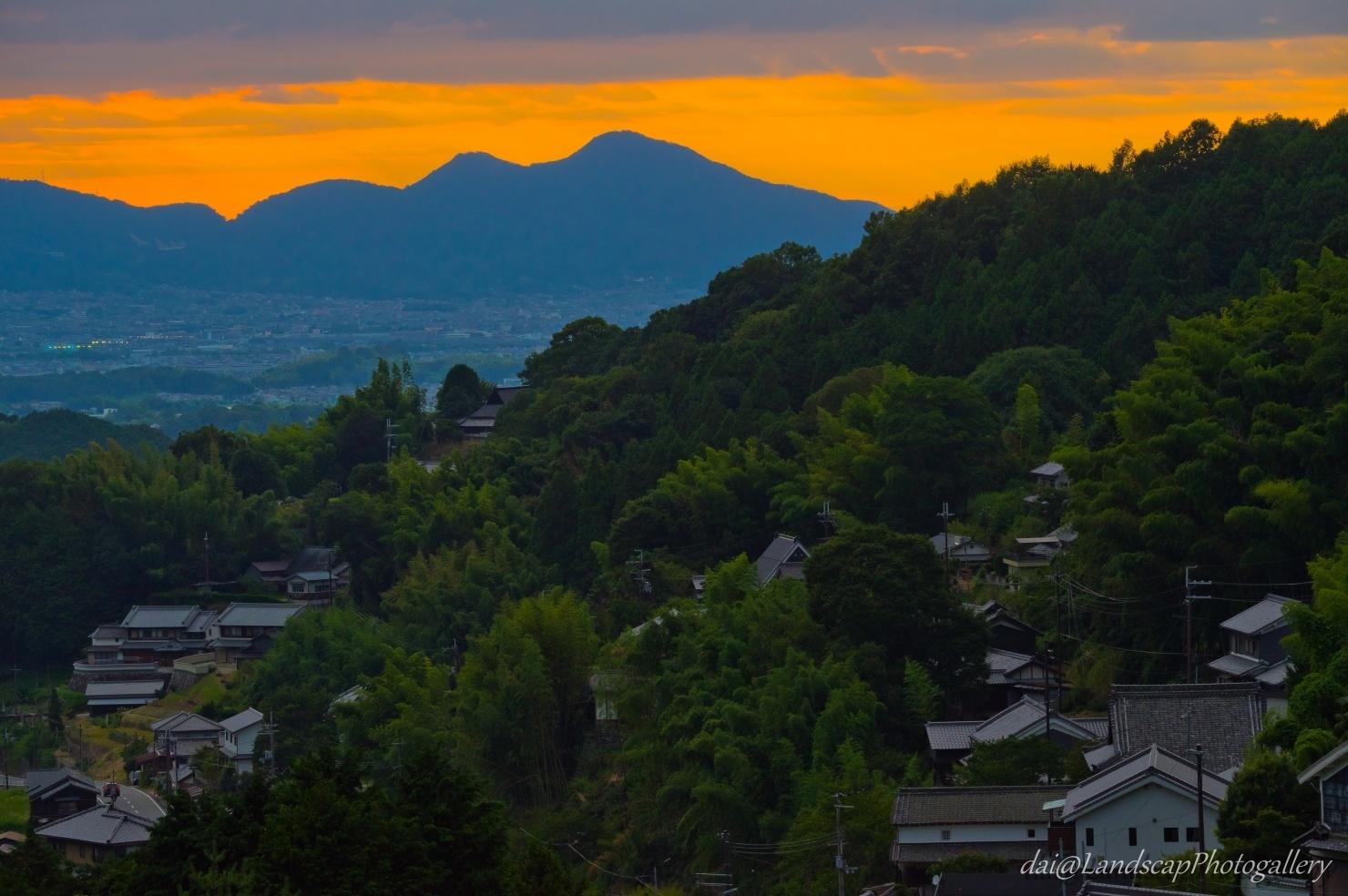 明日香村 山間の集落