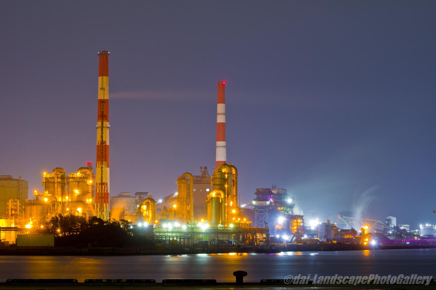 出洲埠頭 製鉄所夜景