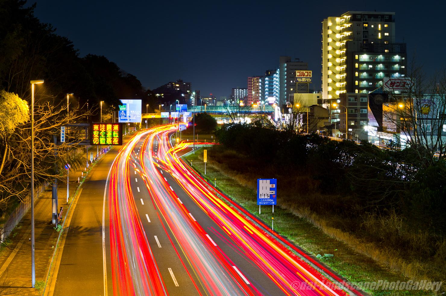 稲毛陸橋からの夜景