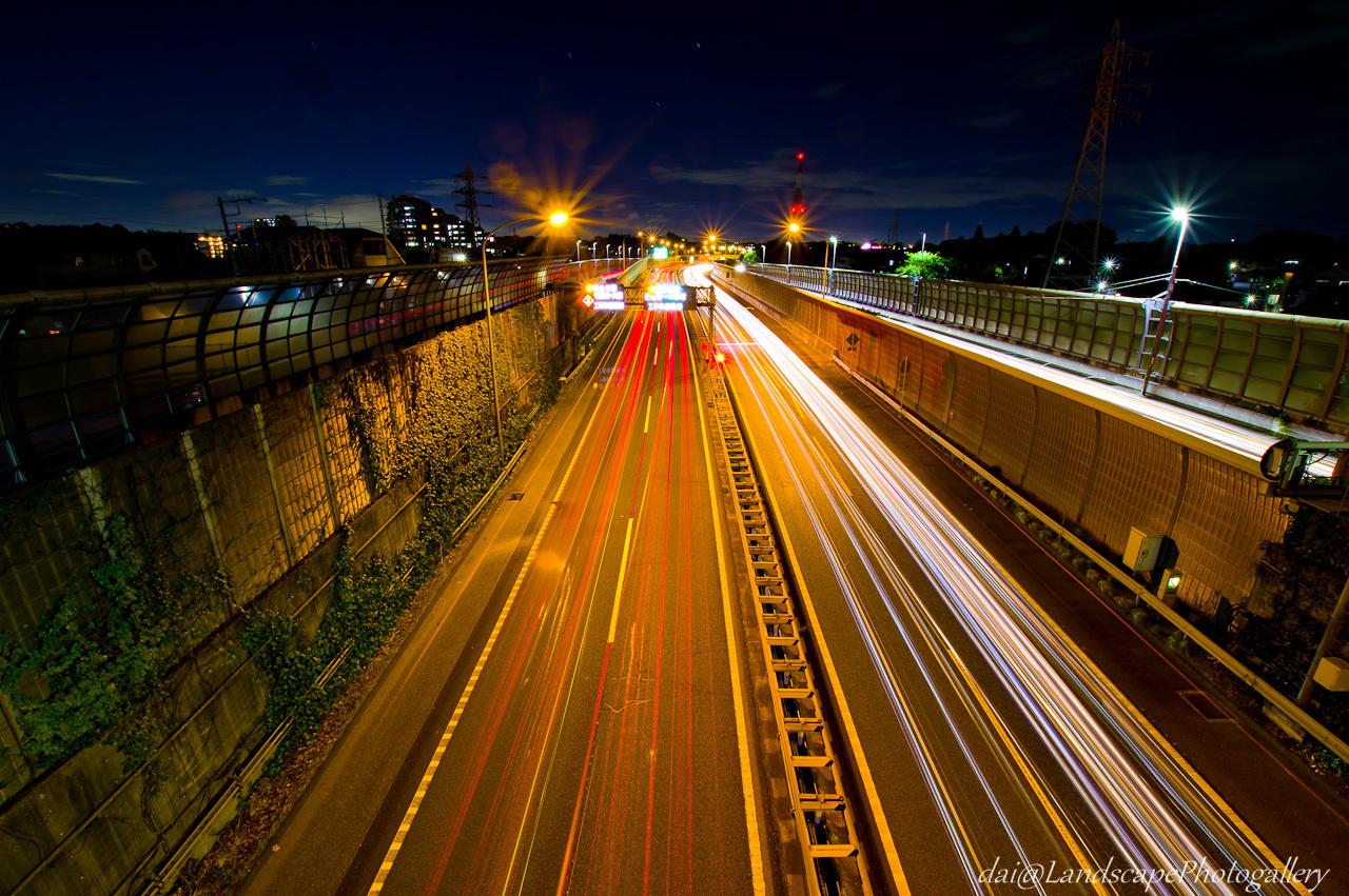 京葉道の光跡