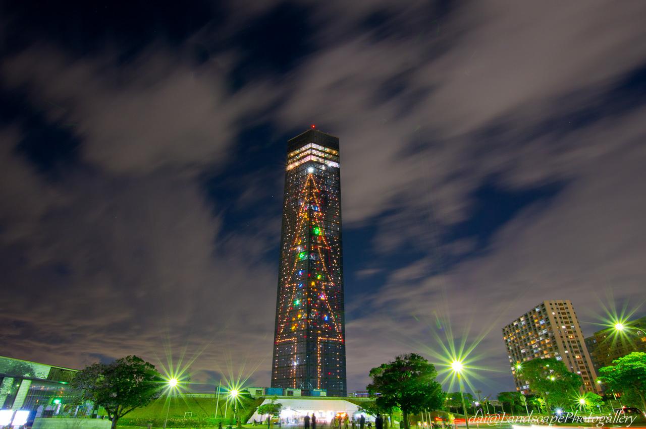 千葉ポートタワー クリスマスツリー夜景