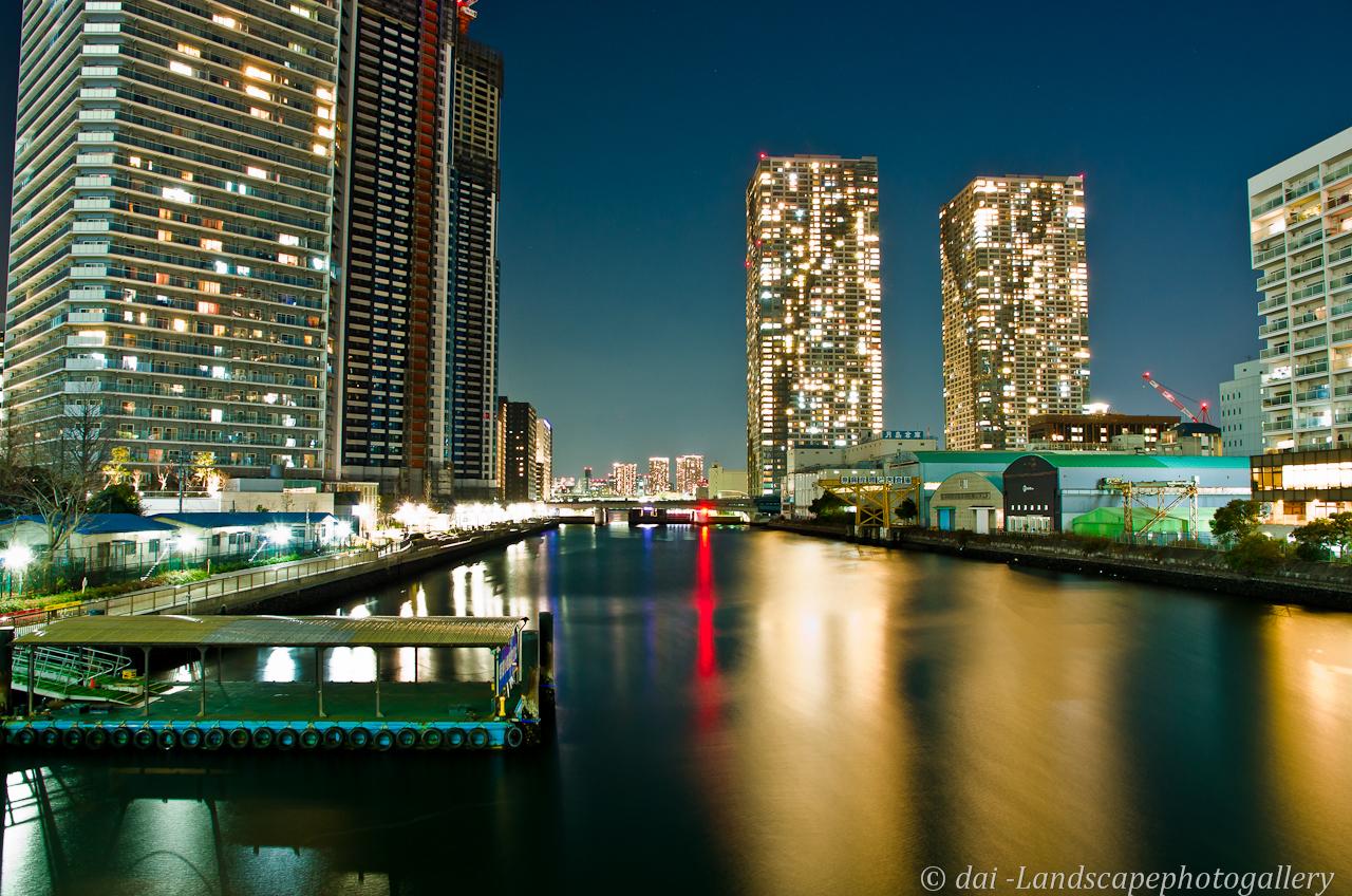 朝潮運河の夜景