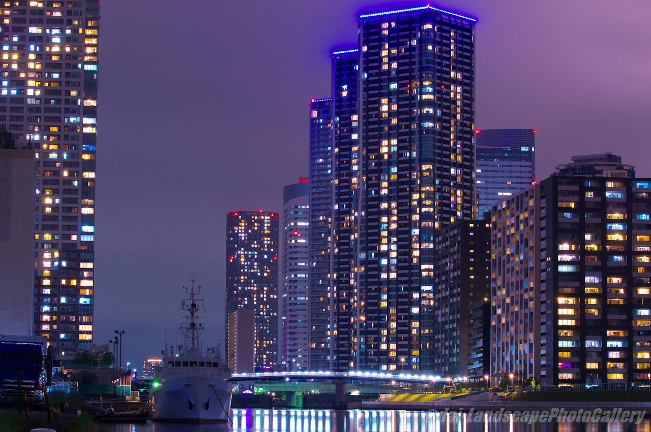 朝潮運河夜景