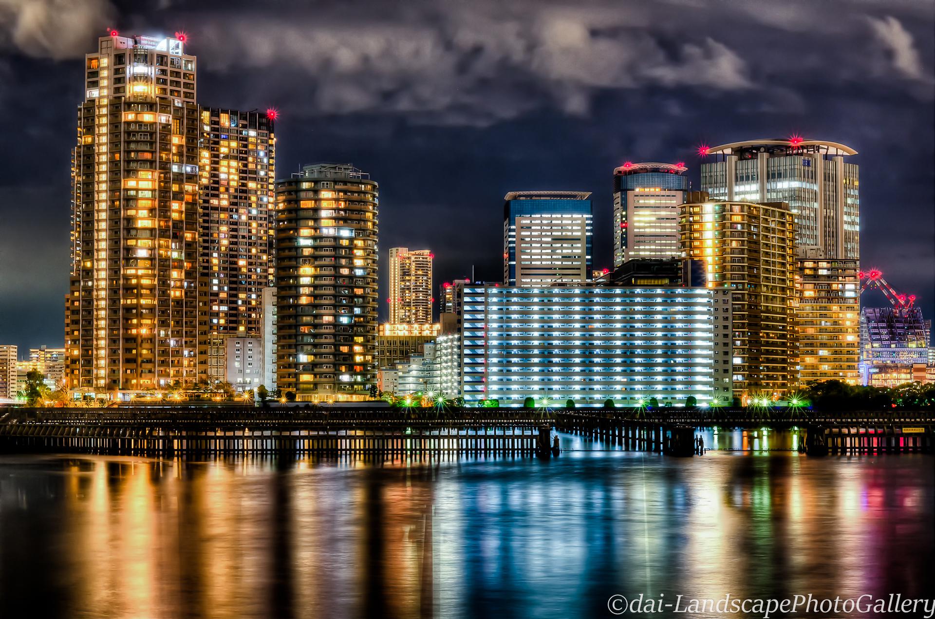 豊洲運河夜景【HDRi】