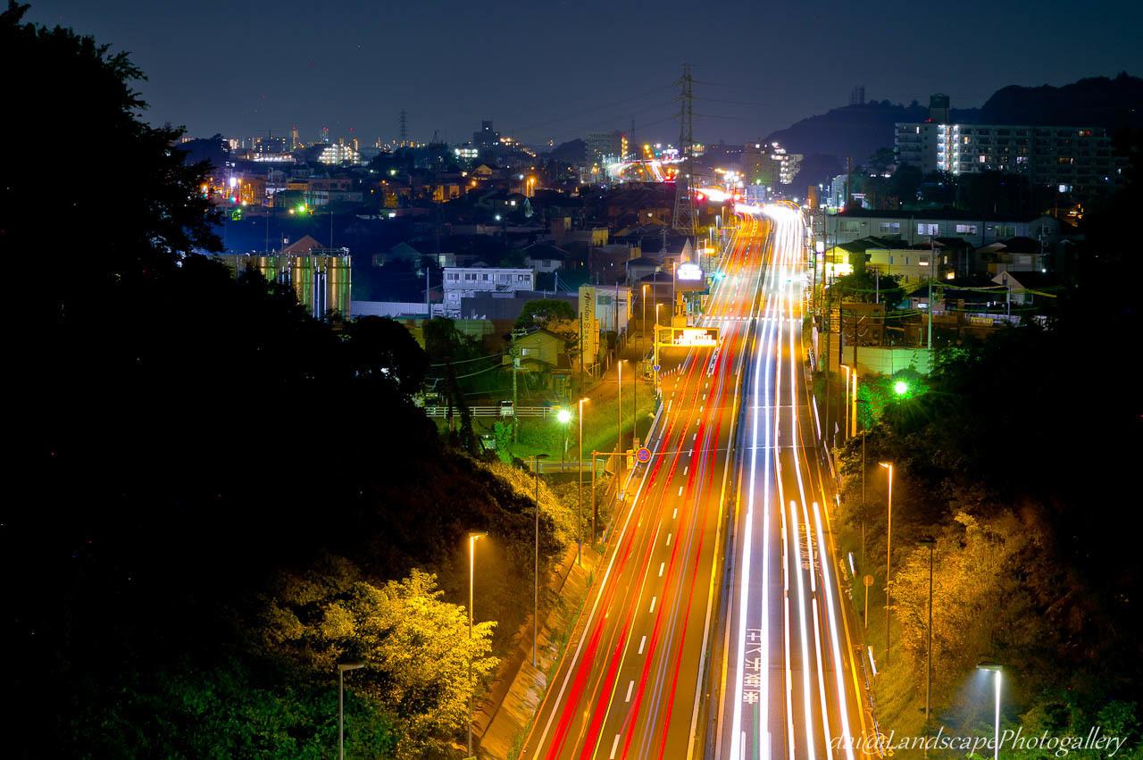 石名坂橋夜景