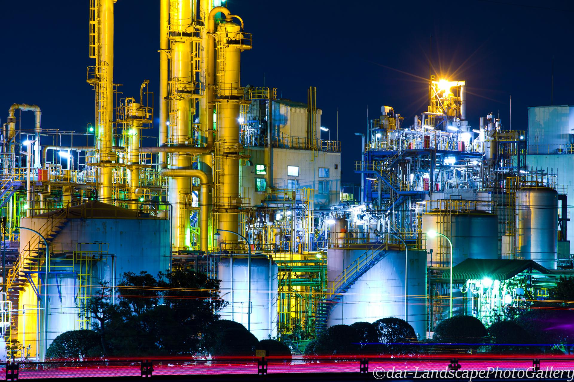 イハラニッケイ化学 工場夜景