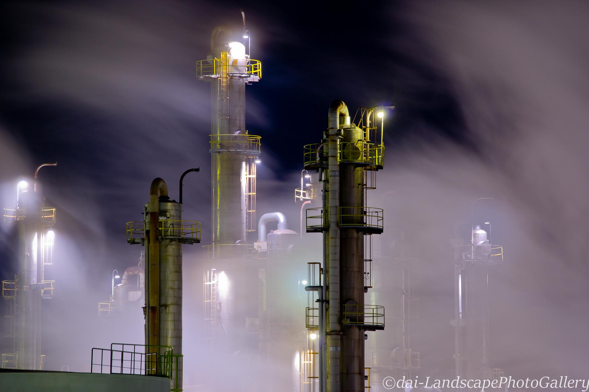 ポリプラスチックス 富士工場 工場夜景