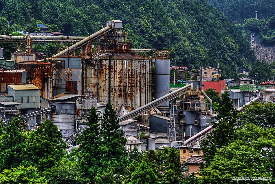 日原街道風景 奥多摩工業氷川工場2【HDRi】
