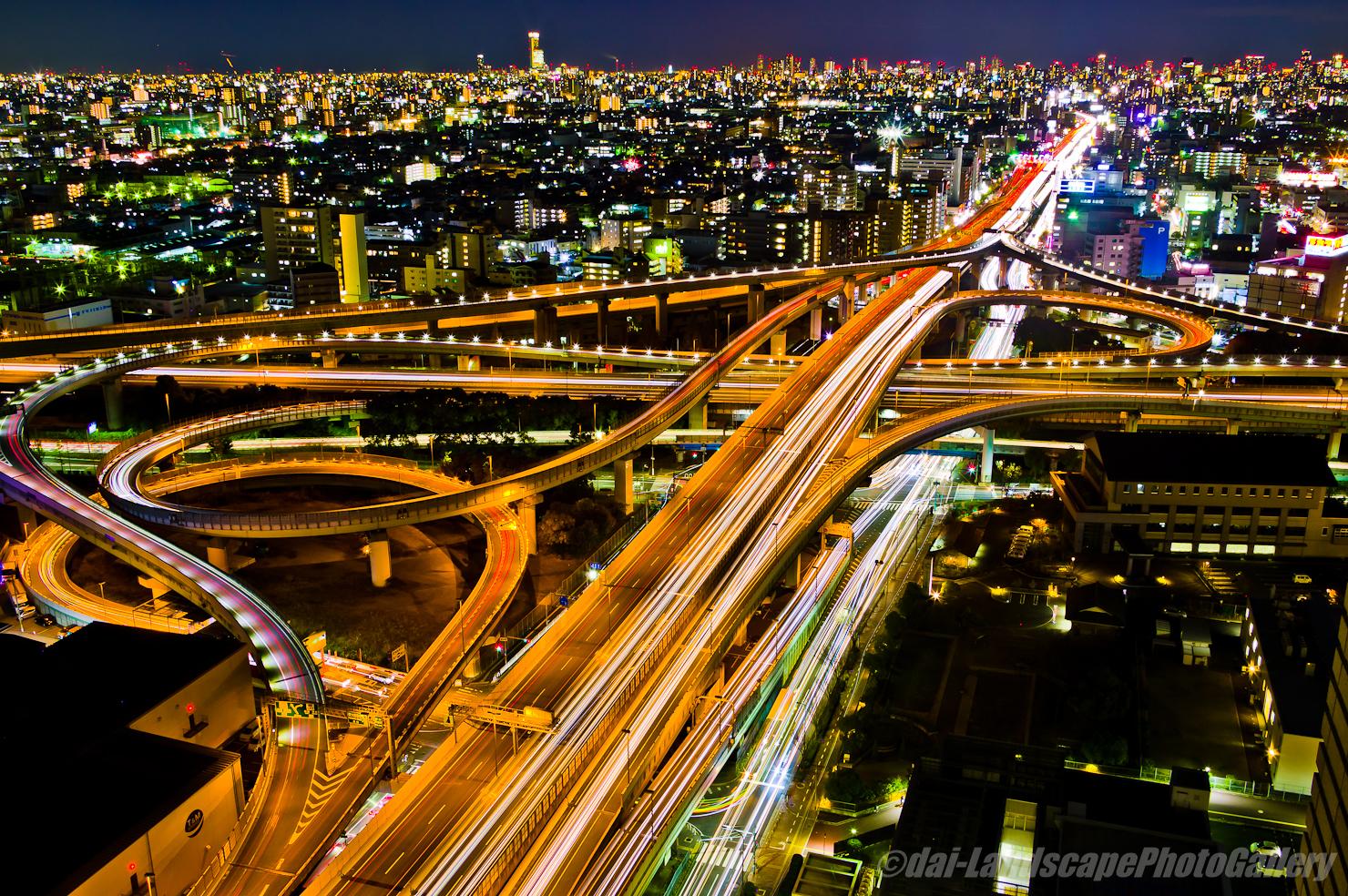 東大阪ジャンクション夜景