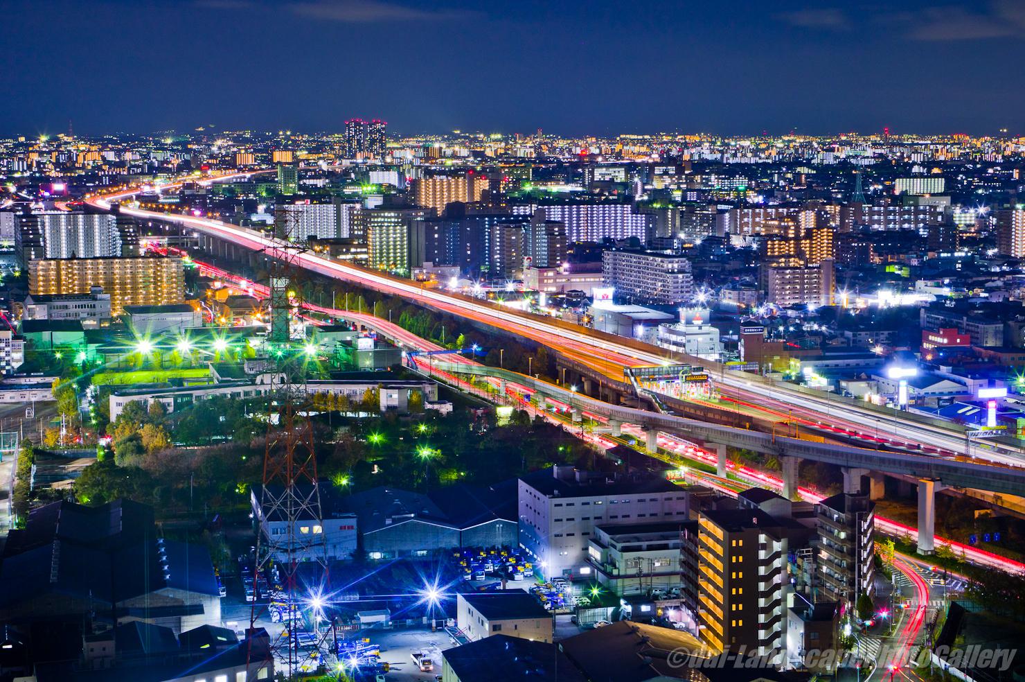 東大阪市役所夜景