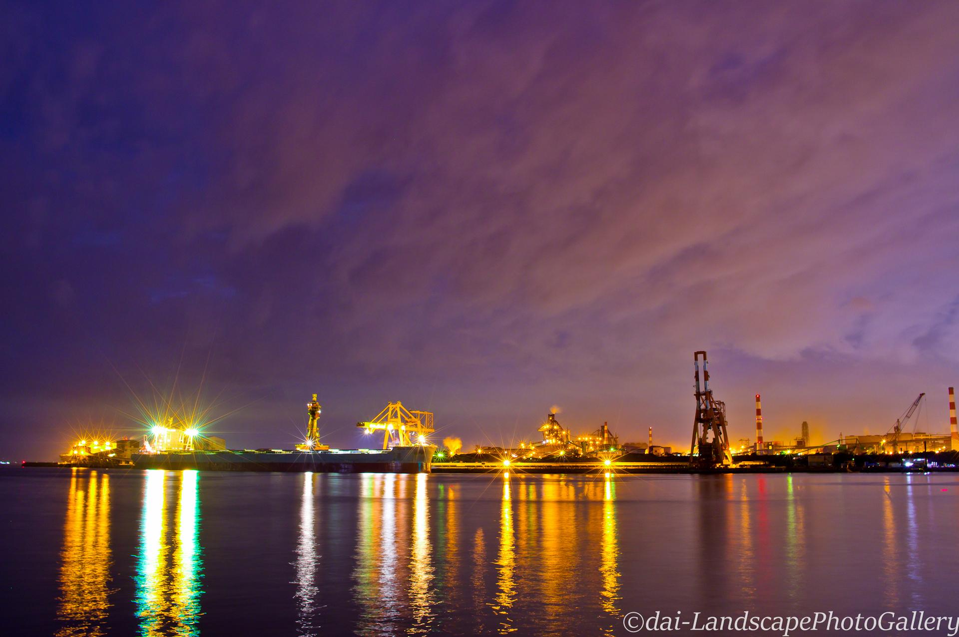 東扇島西公園 製鉄所の夜景
