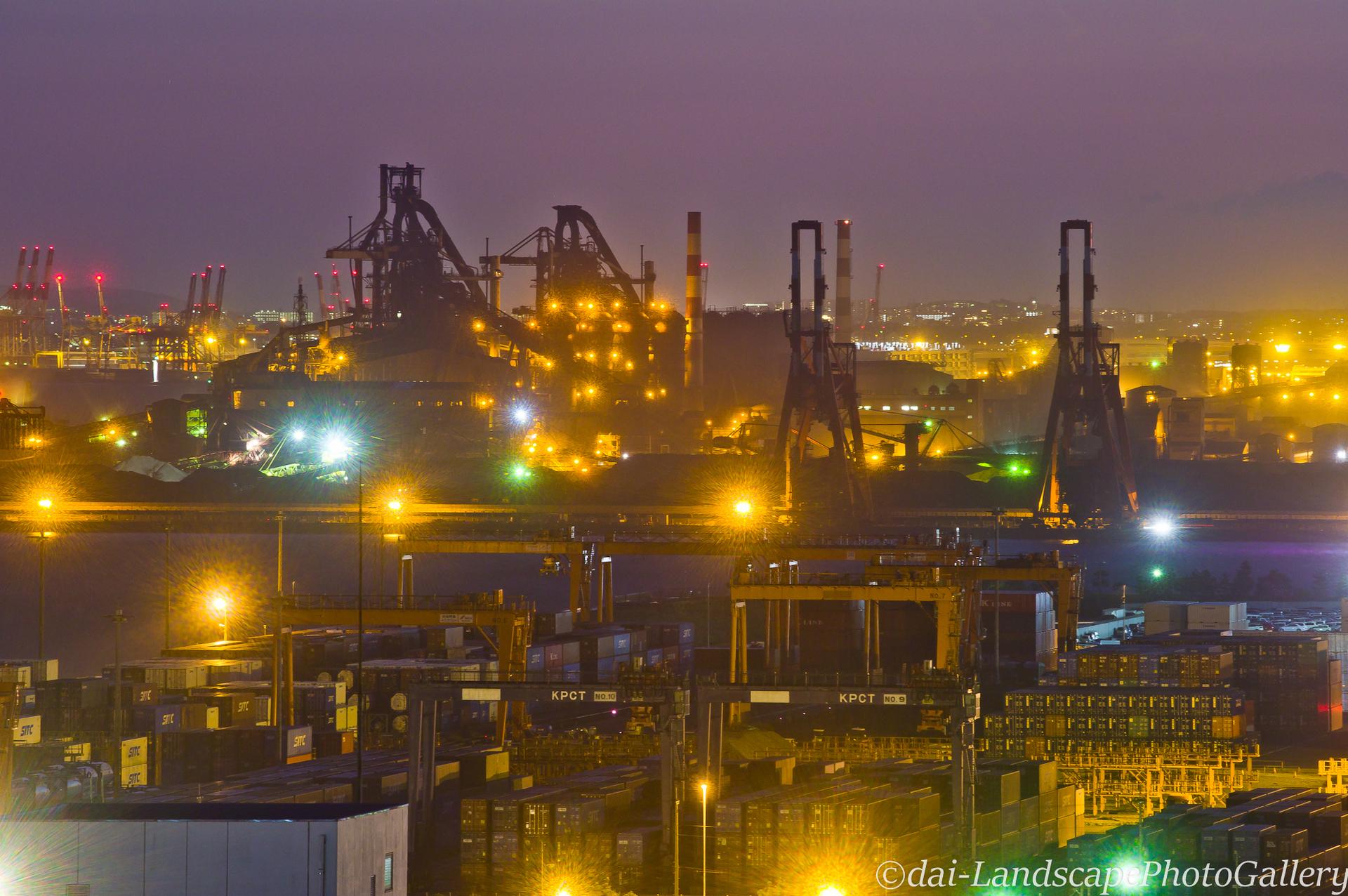 製鉄所の夜景