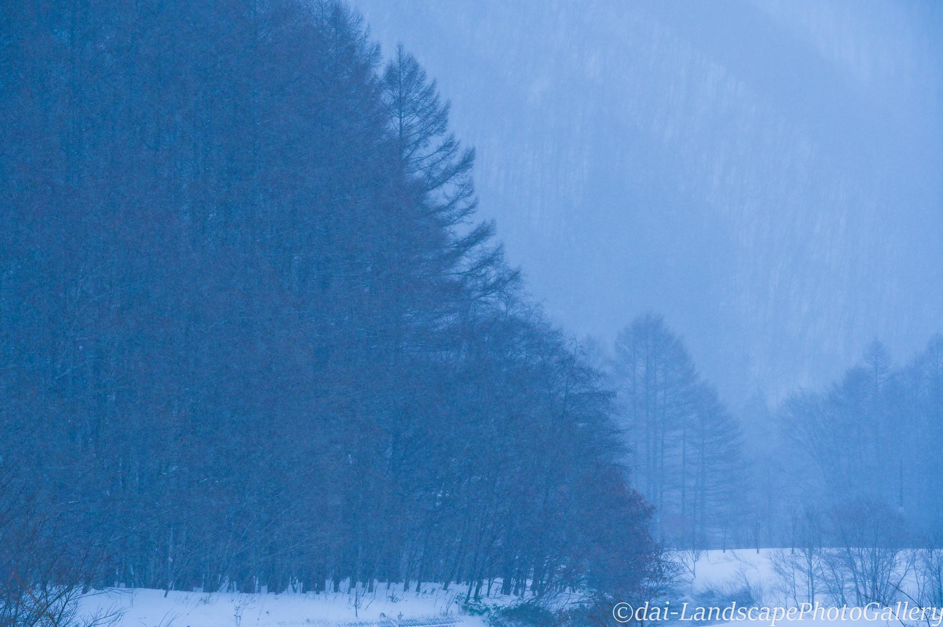 冬の檜枝岐村風景