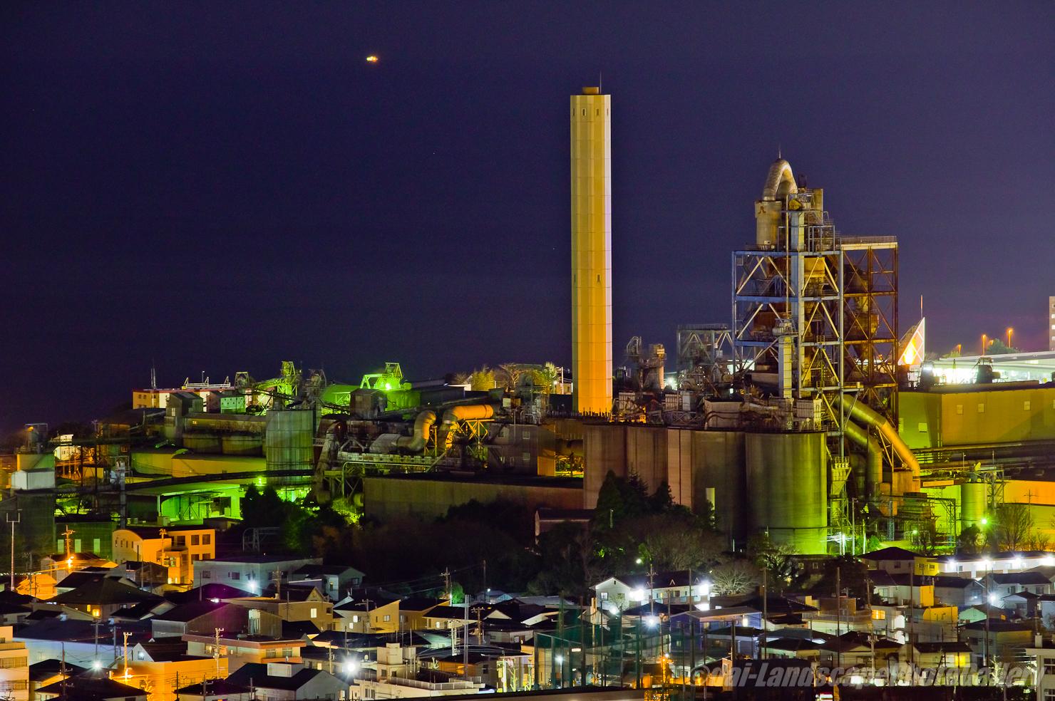 日立セメント工場夜景