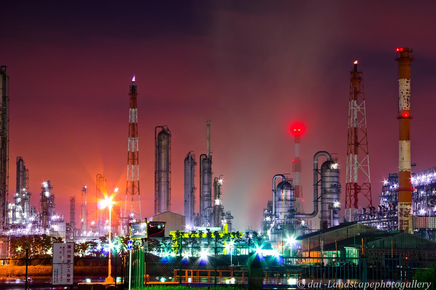 コスモ石油千葉製油所 工場夜景
