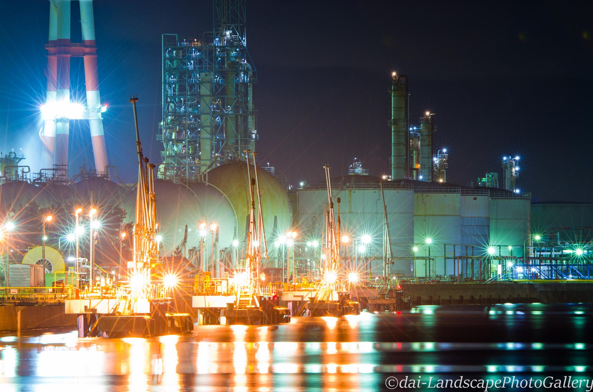 姉ヶ崎港工場夜景