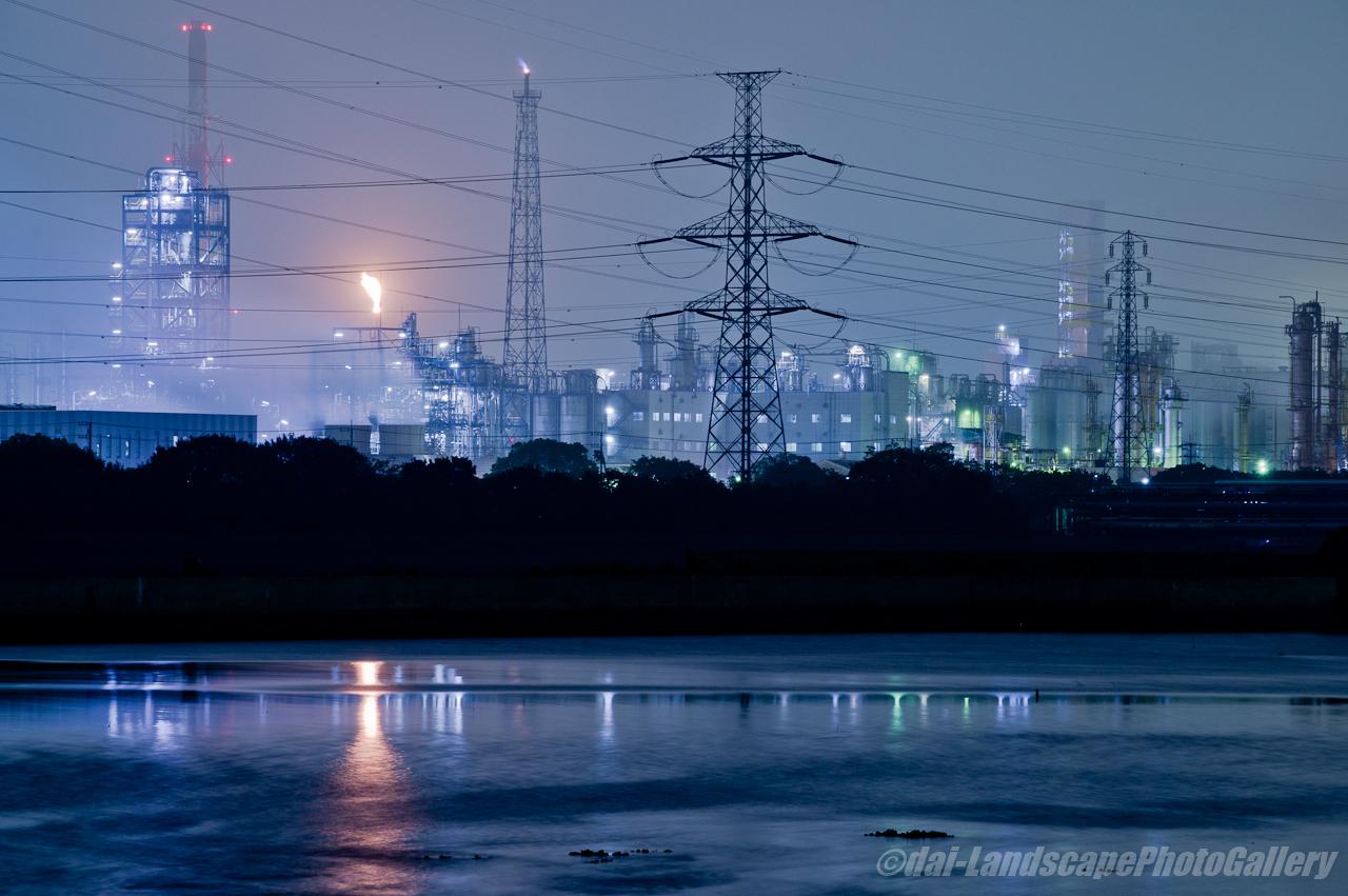 養老川河口工場夜景