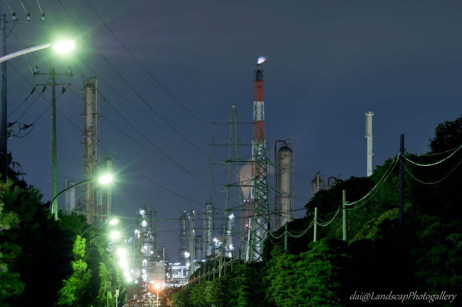 京葉工業地域工場夜景