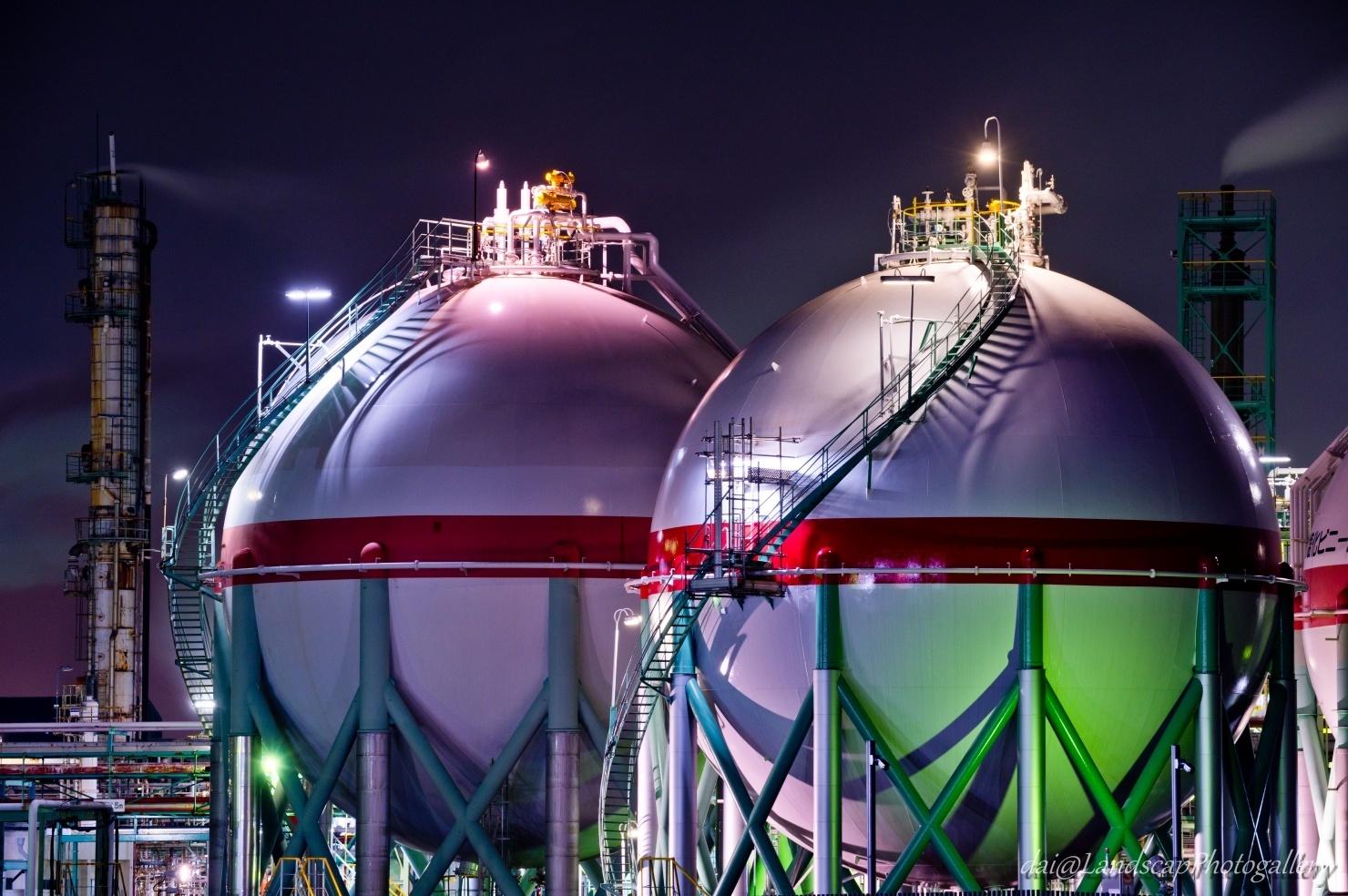 AGC工場夜景