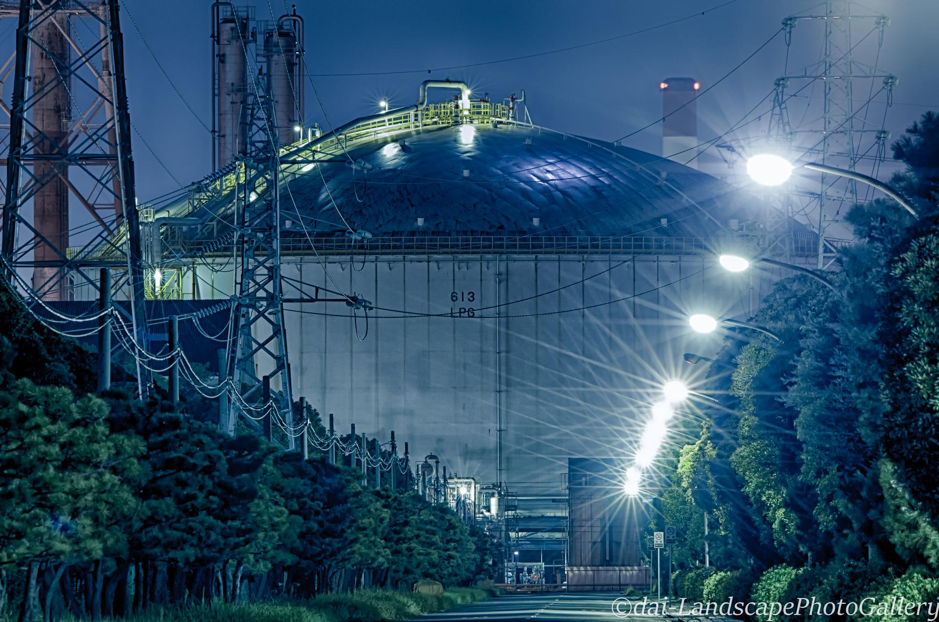 京葉工業地域 工場夜景【HDRi】