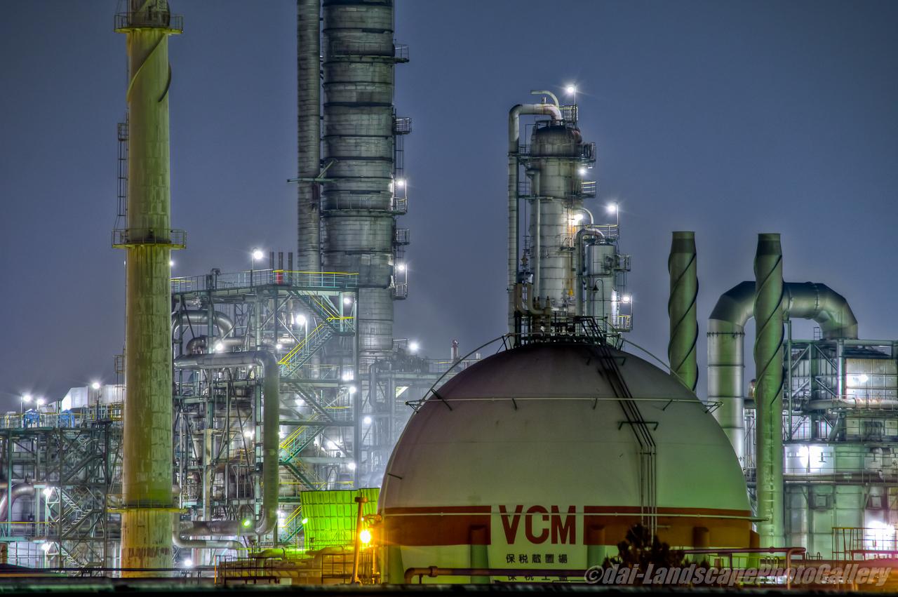 京葉工業地域工場夜景【HDRi】