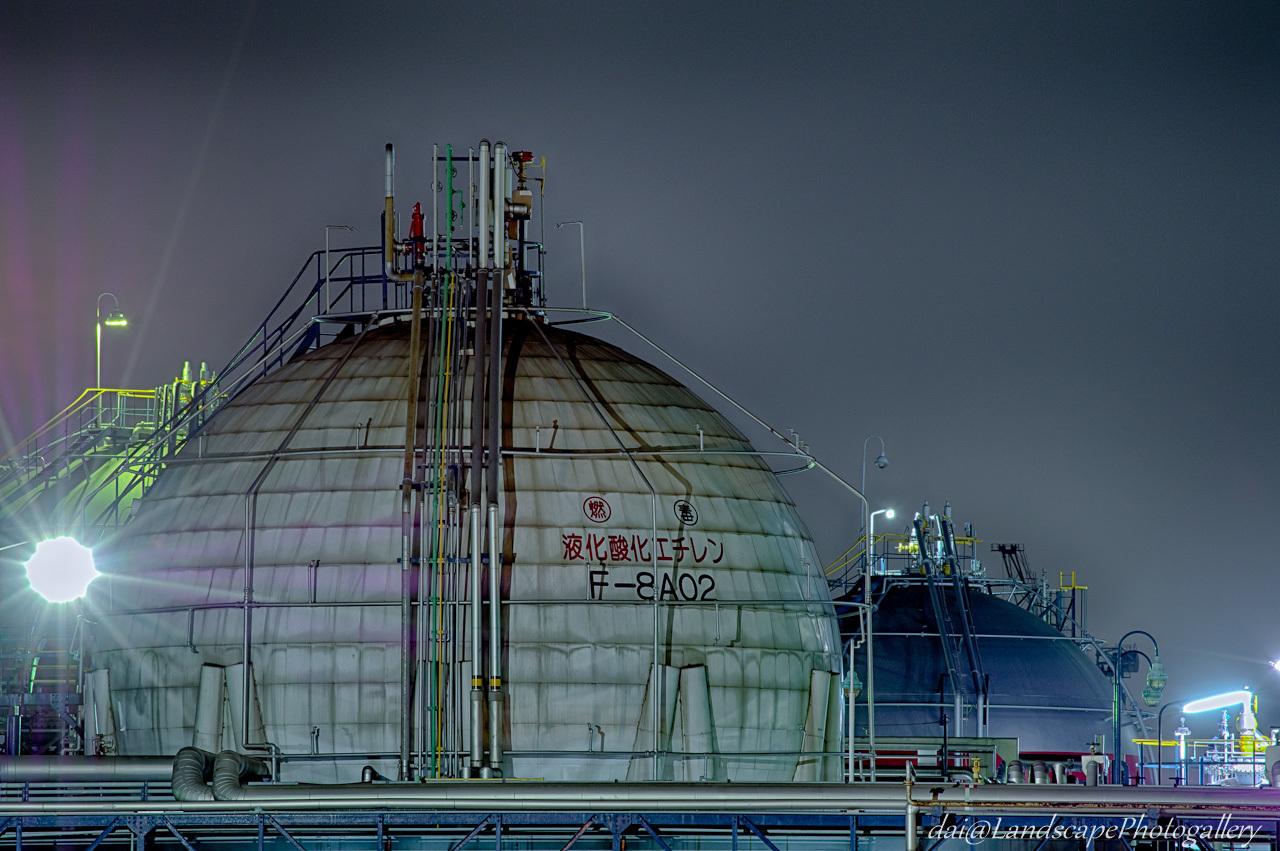 市原工場夜景【HDRi】