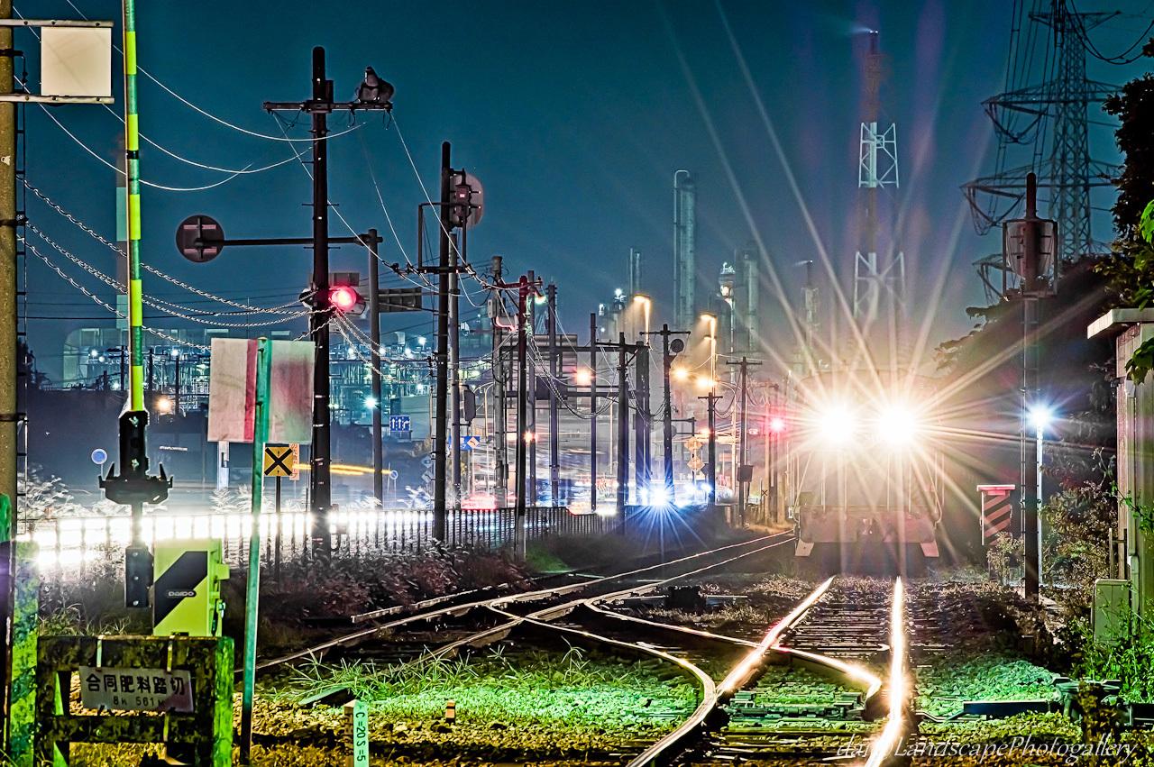京葉臨海鉄道と工場夜景【HDRi】