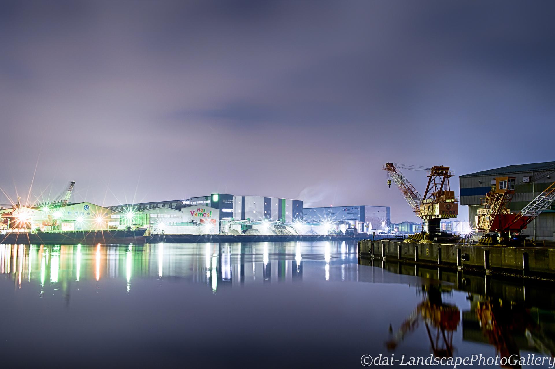 夜の市川港【HDRi】