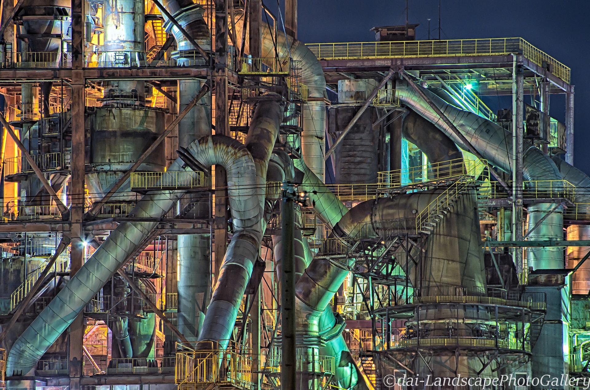 明星セメント工場夜景【HDRi】