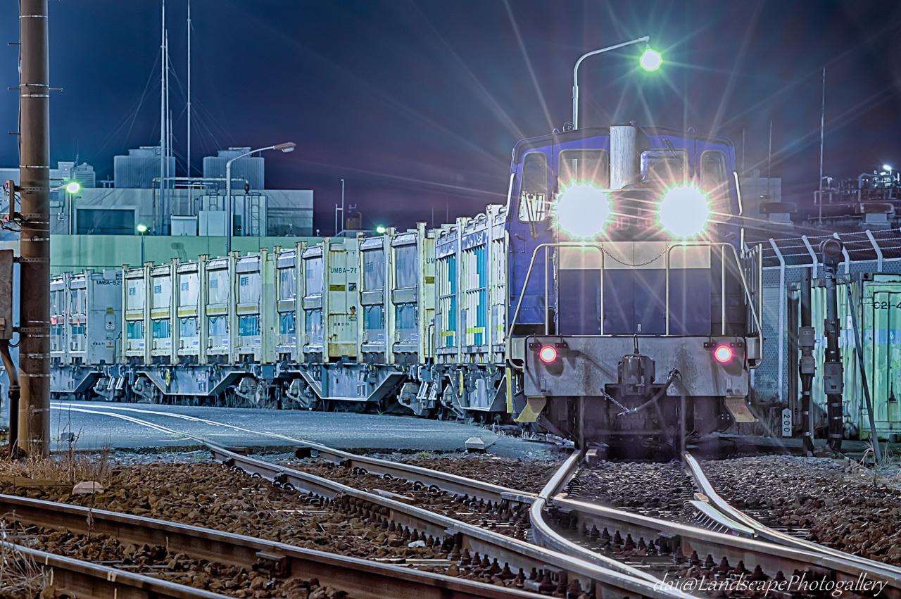 神奈川臨海鉄道末広町駅の貨物列車【HDRi】