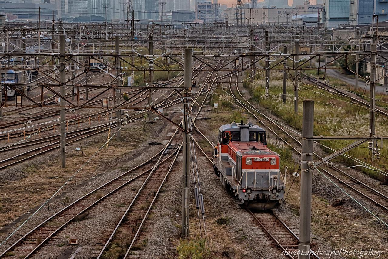 東京貨物ターミナル駅 DE10入れ替え風景【HDRi】
