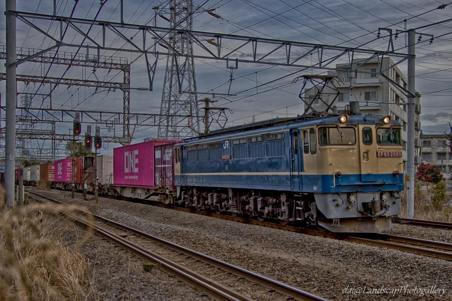 EF65 2089 コンテナ列車【HDRi】