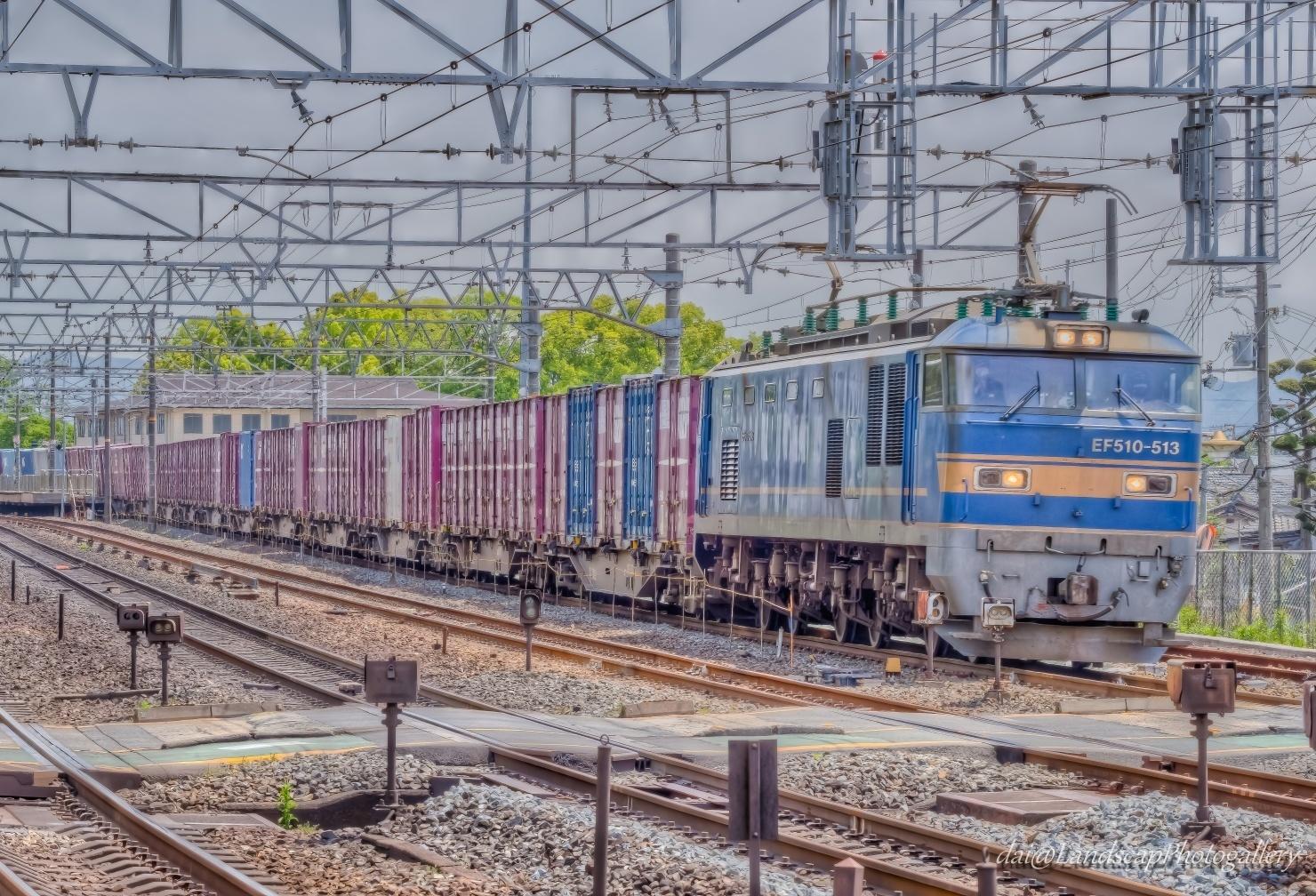 EF510-513 コンテナ列車【HDRi】
