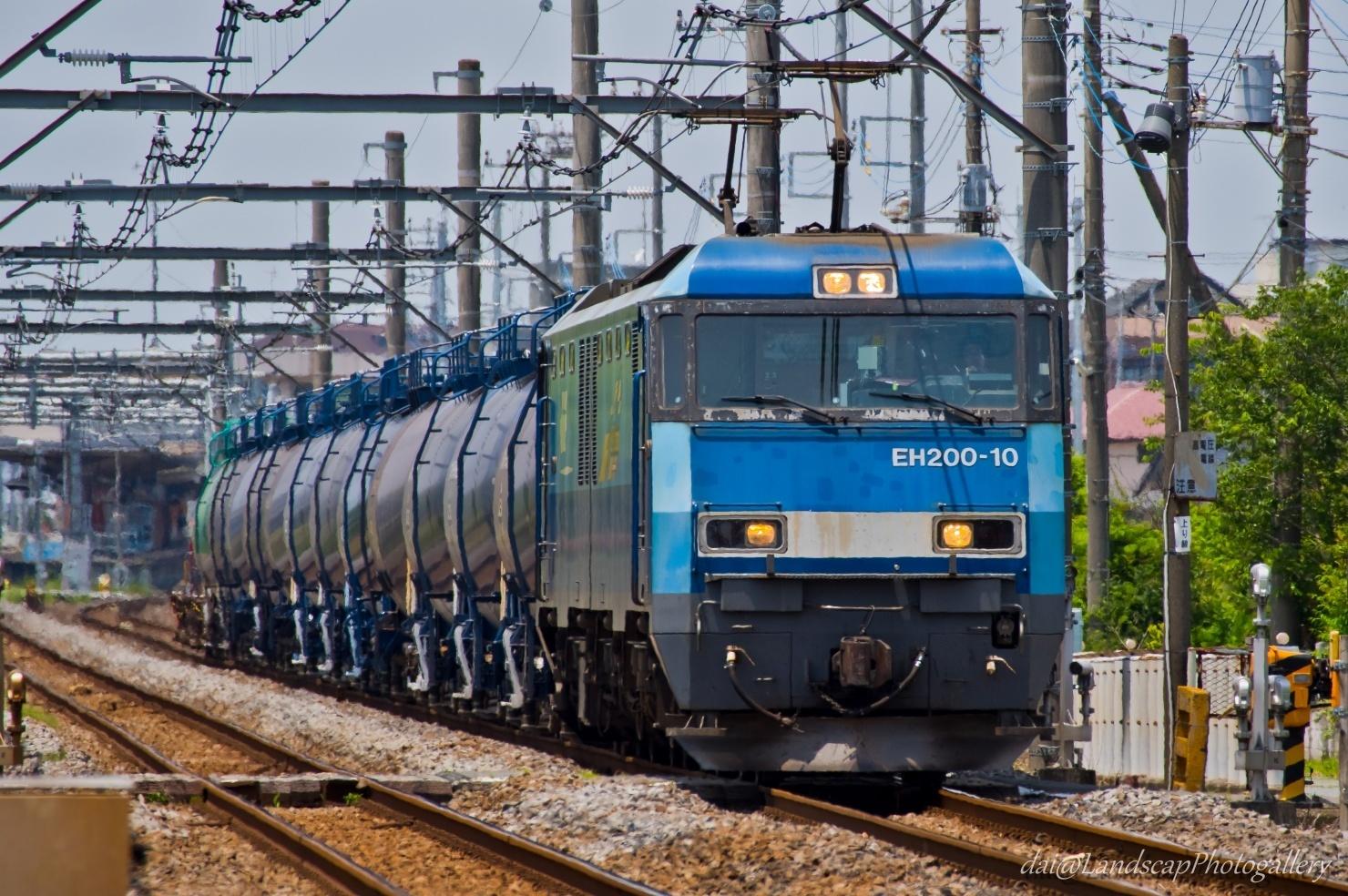 EH200-10牽引 石油専用列車
