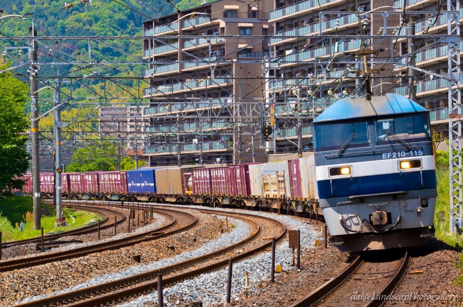 EF210-115 コンテナ列車