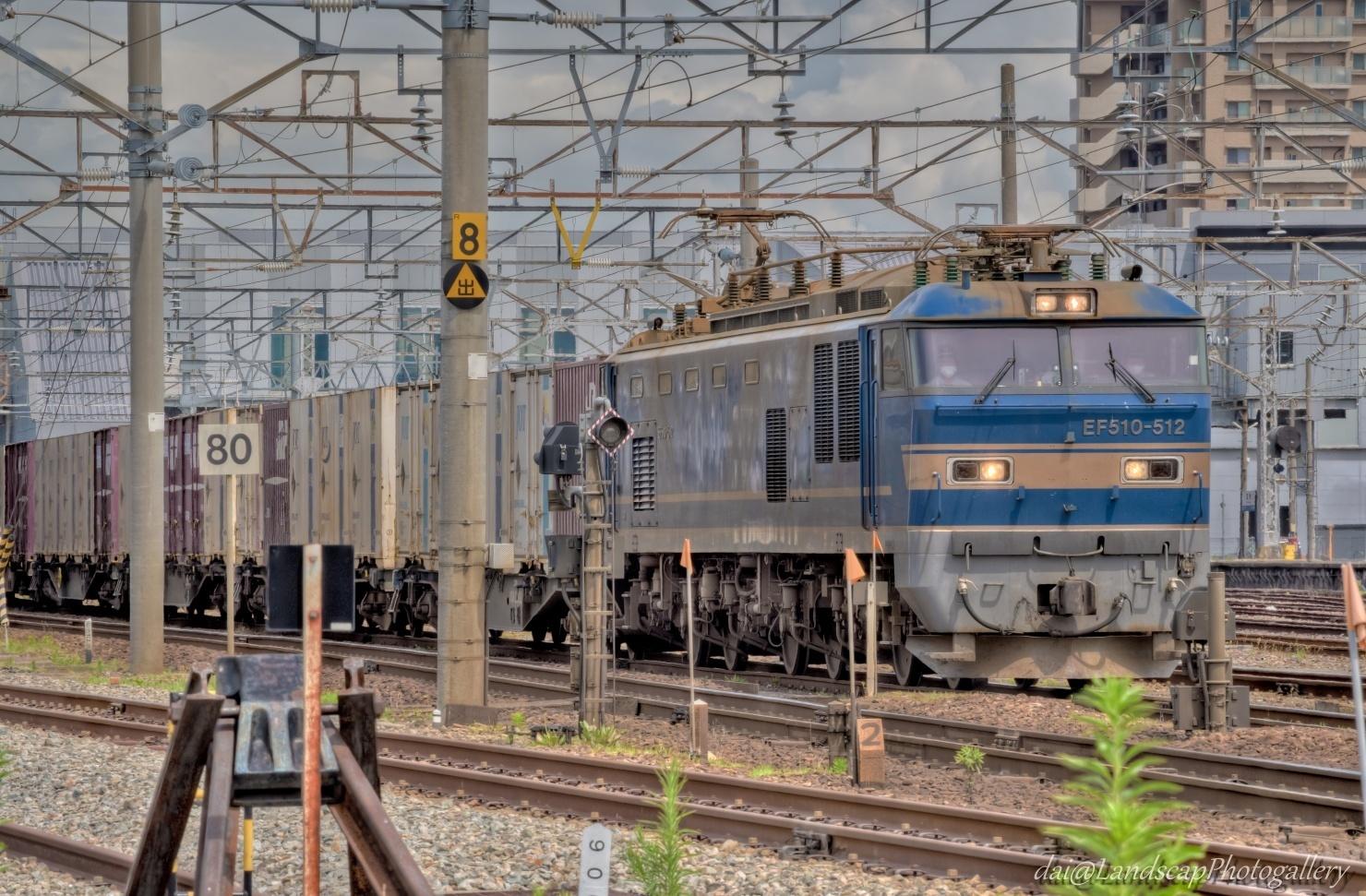 EF510-512 日本海縦貫線コンテナ列車【HDRi】