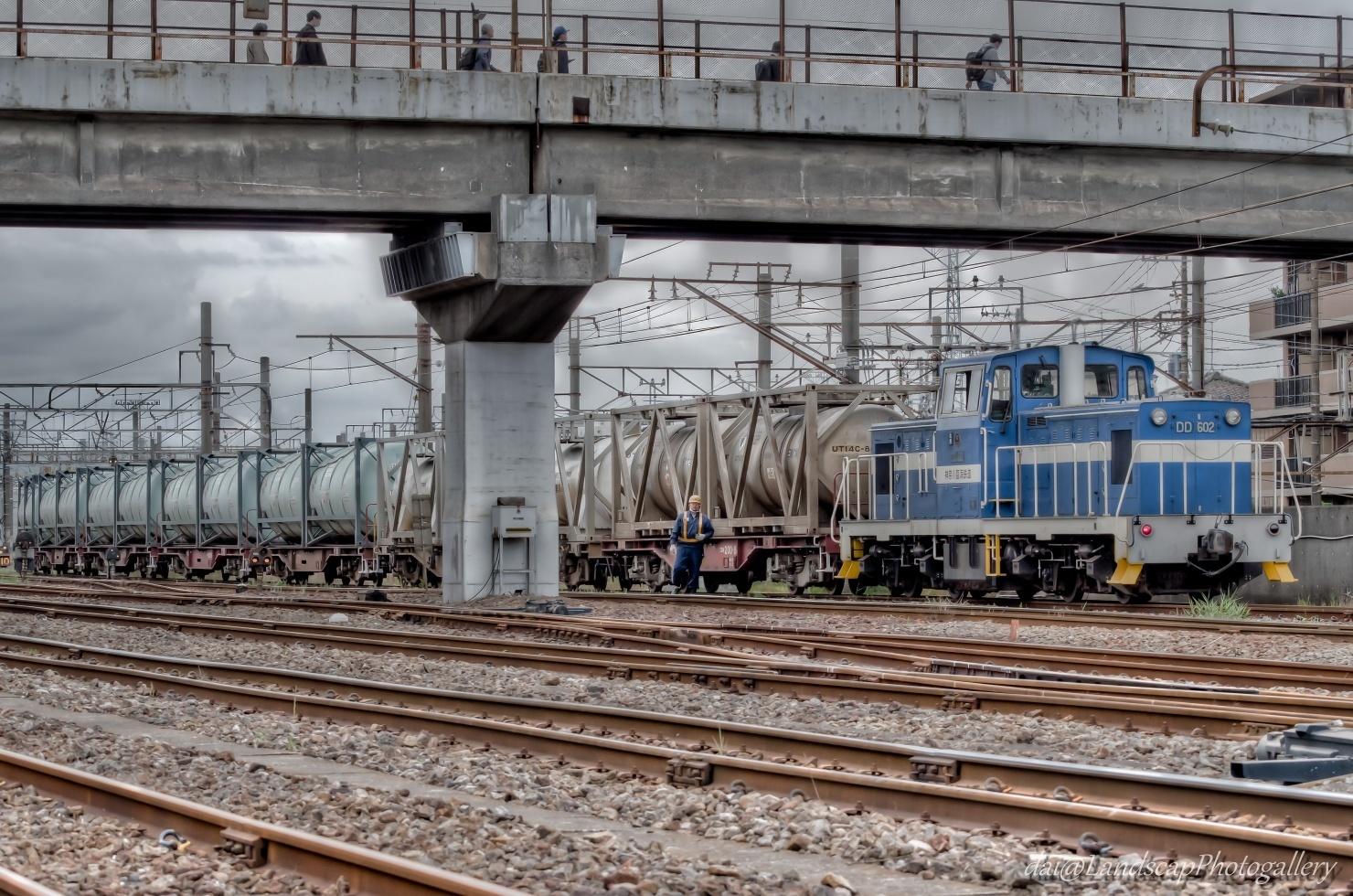 川崎貨物駅 DD602入れ替え風景【HDRi】