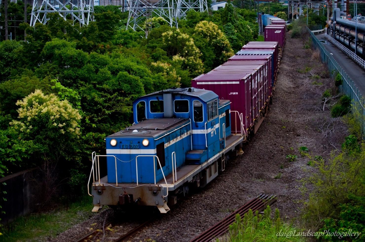 京葉臨海鉄道 KD602 コンテナ列車