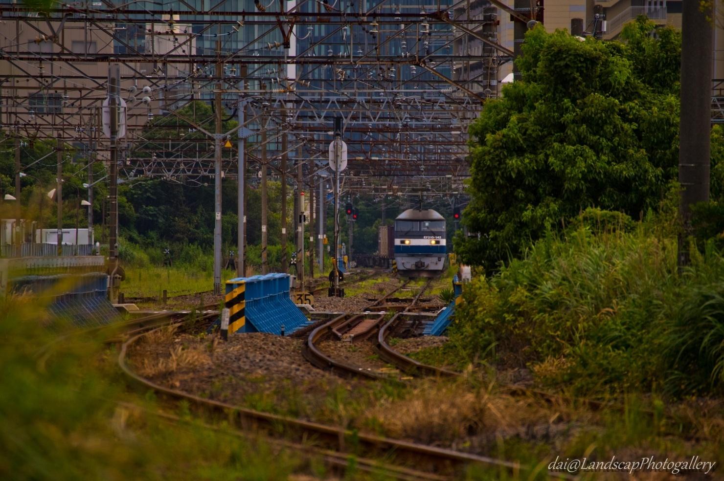 高島線をゆくEF210コンテナ列車
