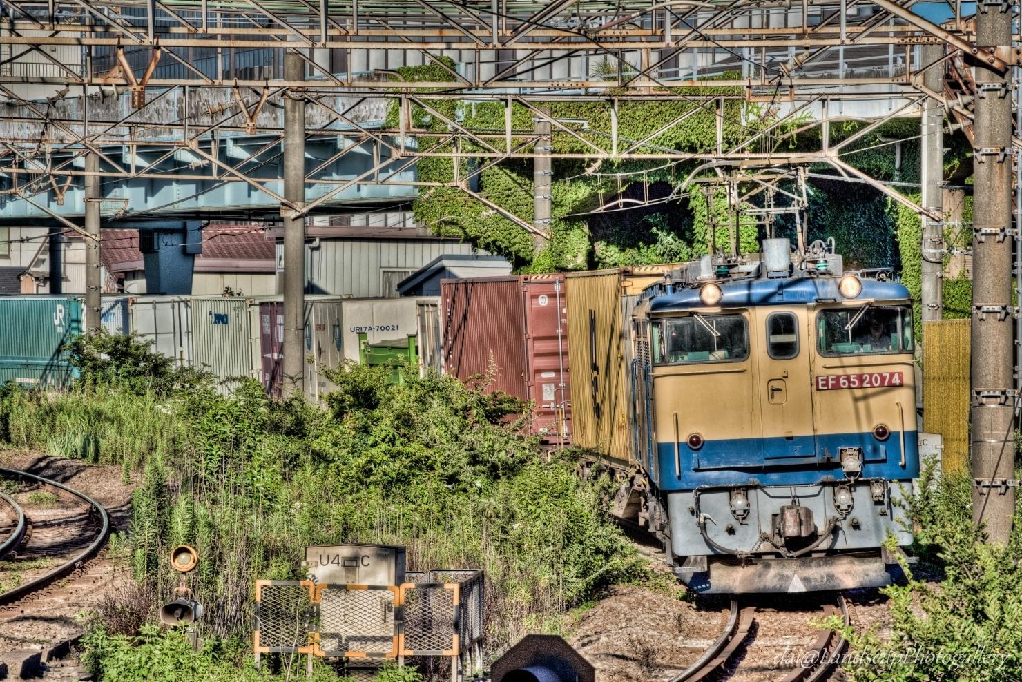 海上コンテナ積載貨物列車【HDRi】