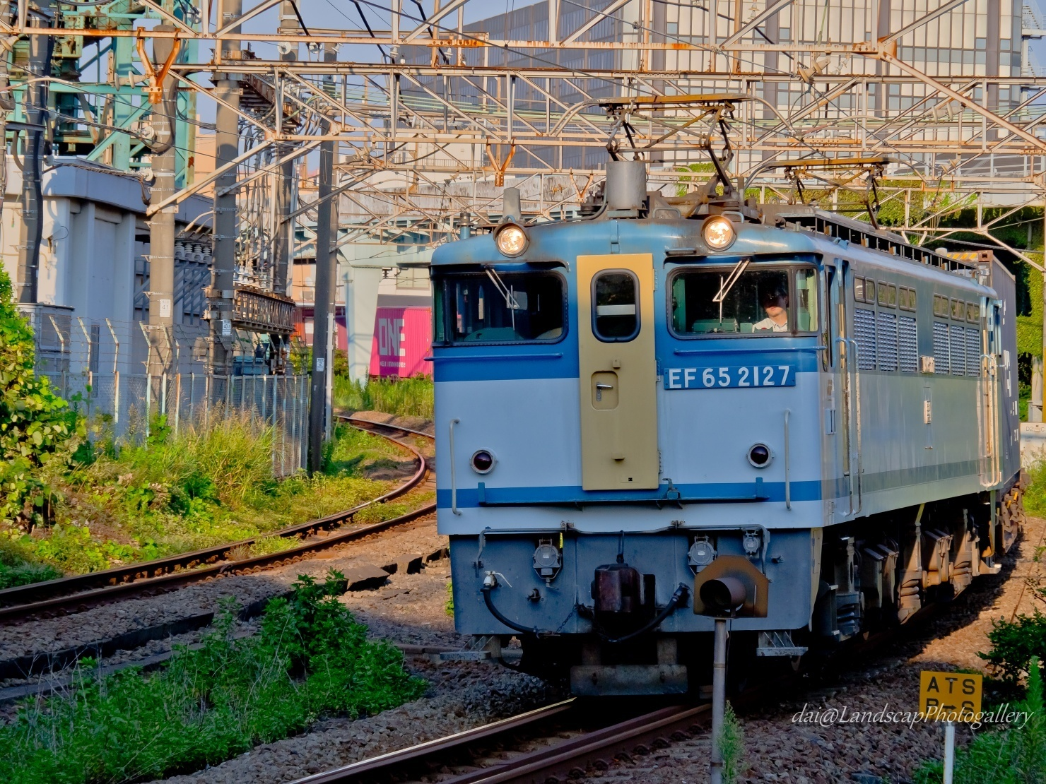 EF65 2127 海上コンテナ貨物列車