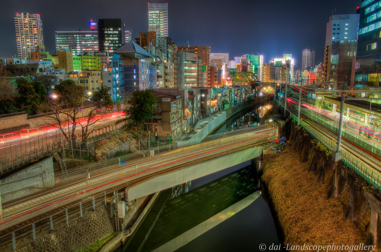 神田川夜景~聖橋にて【HDRi】