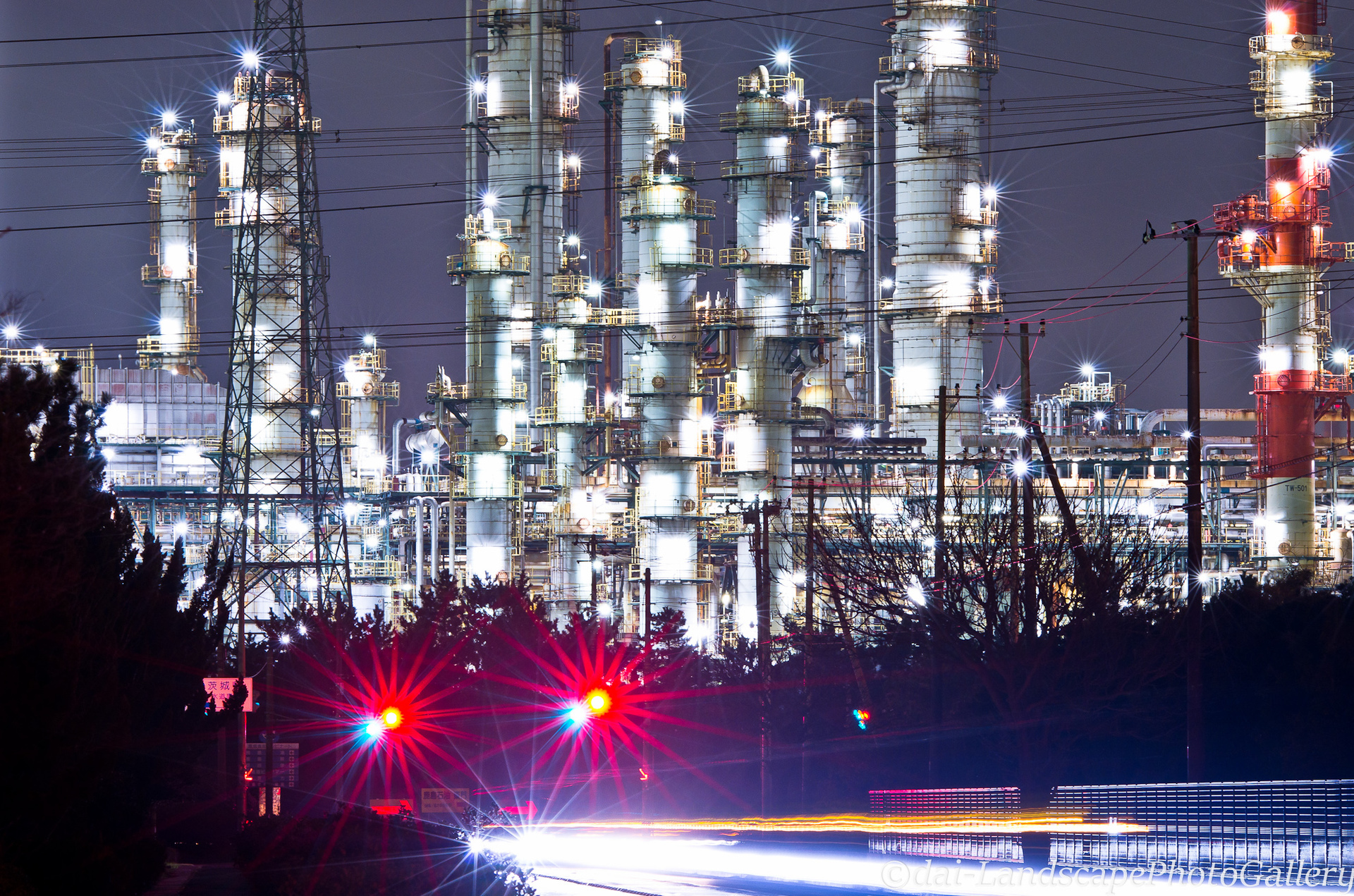 鹿島臨海工業地帯の夜景