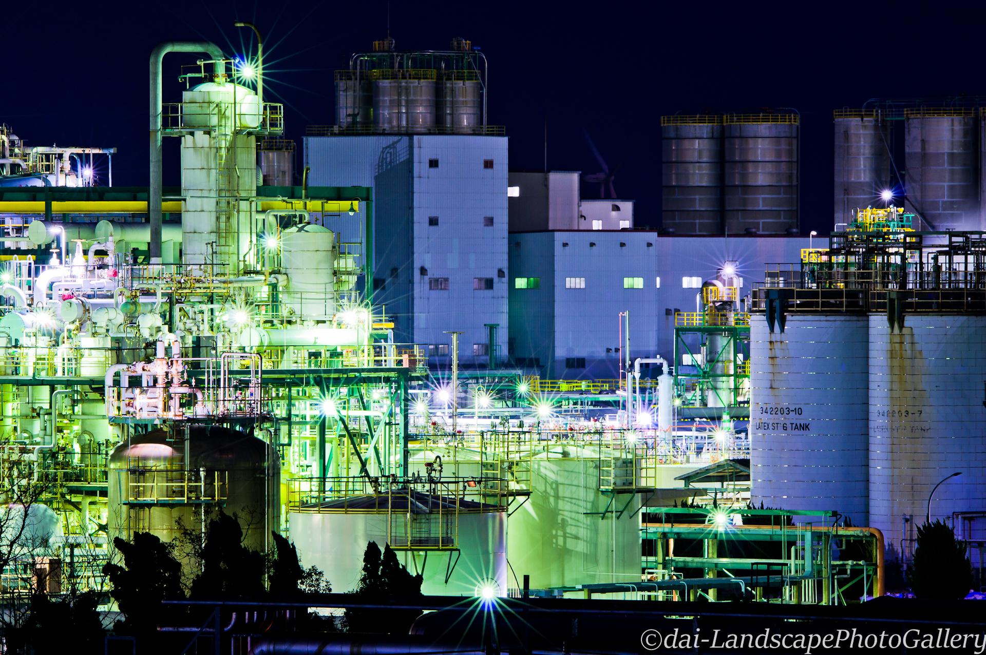鹿島臨海工業地帯夜景