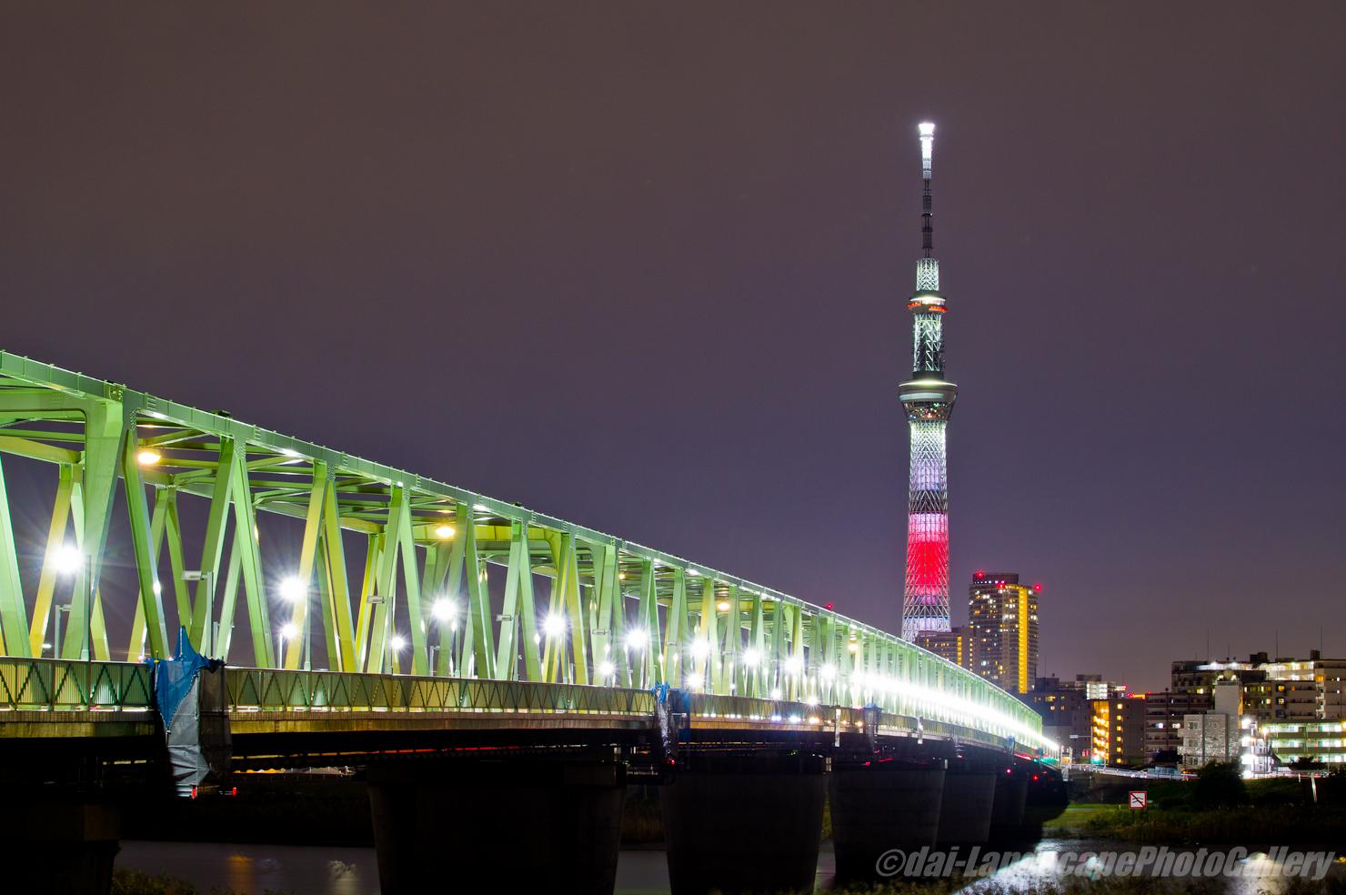 木根川橋と東京スカイツリー(