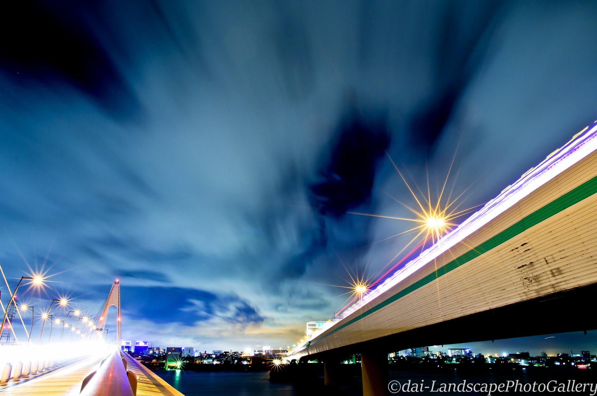 大師橋と高速大師橋